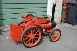 "right view 4"" A2 Tasker little giant tractor live steam traction engine for sale"