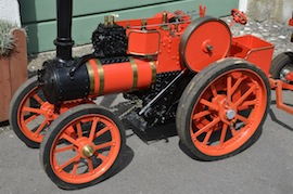 "close view 4"" A2 Tasker little giant tractor live steam traction engine for sale"