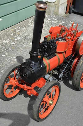 "front view 4"" A2 Tasker little giant tractor live steam traction engine for sale"