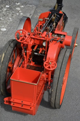 "back view 4"" A2 Tasker little giant tractor live steam traction engine for sale"