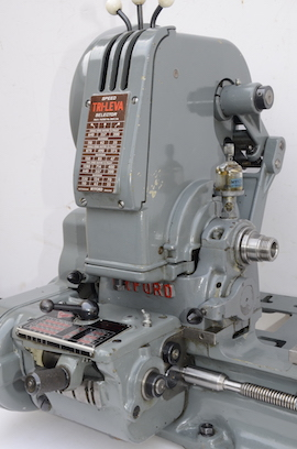 spindle view Myford trileva ml7 lathe for sale