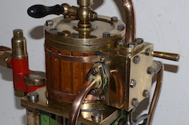 Large vertical live steam marine engine reversing for sale