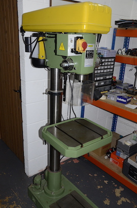 Main view Warco DT25 floor standing pillar drill for sale